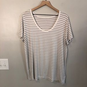 A New Day Casual Stripe Top Size XXL